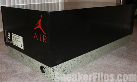 nike shoe box coffee table custom air 4 shoe box coffee table sneakerfiles