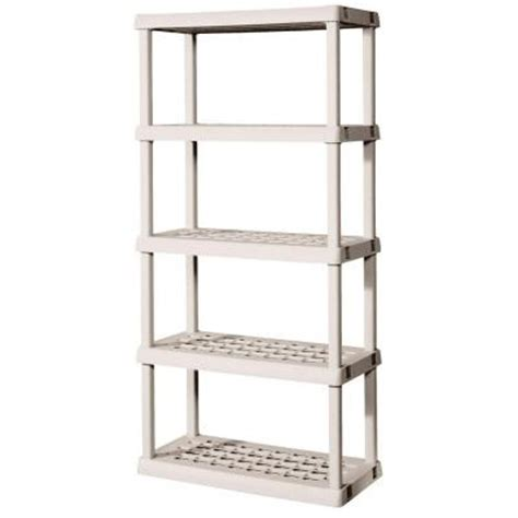 sterilite 5 shelf 36 in w x 75 125 in h x 18 in d