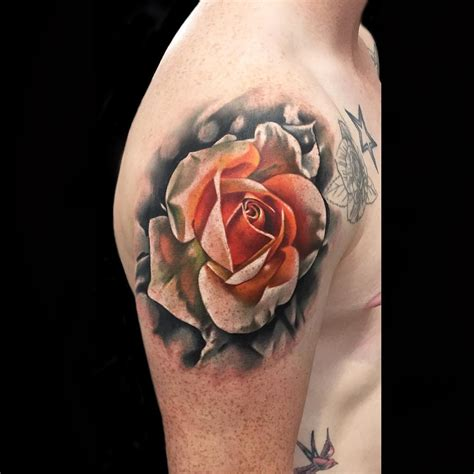 rose on shoulder tattoo shoulder best ideas gallery
