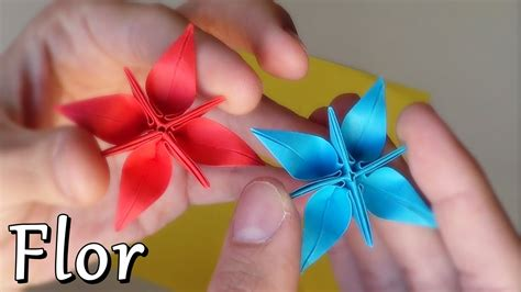 Flor Origami - flor estrella fant 225 stica de papel origami