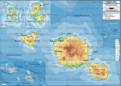 carte de la polynesie francaise plusieurs cartes iles
