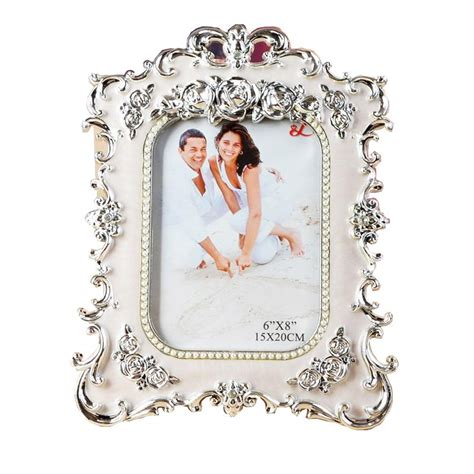 Resin Photo Frame white color rectangle photo frame european style