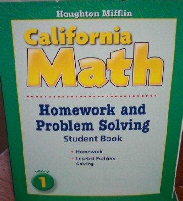 houghton mifflin mathematics homework book consumable level 4 books houghton mifflin mathmatics california