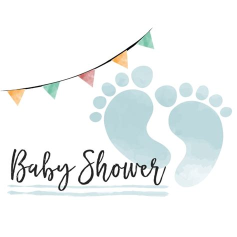 Images Of Baby Shower by Watercolor Baby Shower Card For Boy Vector Free