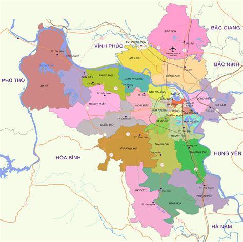 Hanoi District Map - Hanoi Tours