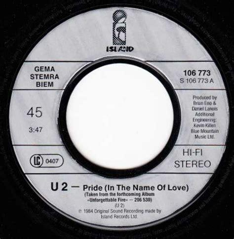 Pride In The Name Of by U2 Pride In The Name Of 7 Quot Single Vinyl