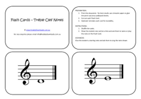 printable treble clef note flash cards flash cards treble clef notes my song file