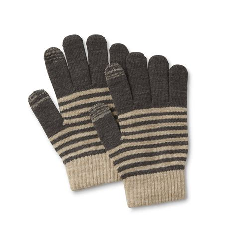 Striped Gloves s texting gloves striped sears