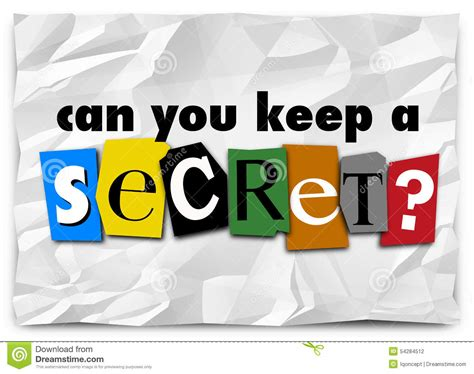 can you keep a can you keep a secret words ransom note private message stock illustration image 54284512