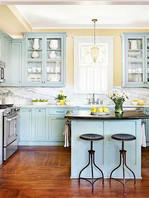 yellow kitchen walls blue cabinets yellow walls for the home