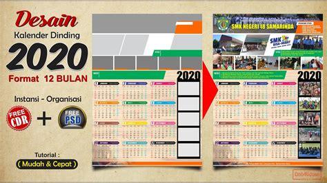 template desain kalender dinding  format  bulan  cdr   psd youtube