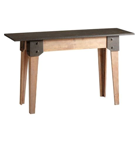 Rustic Console Table Masa Wood Steel Rustic Console Table Kathy Kuo Home