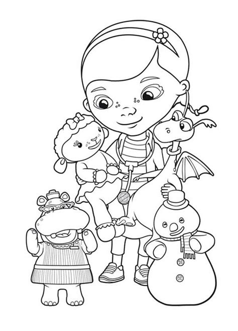 coloring pages of doc mcstuffins doc mcstuffins christmas coloring pages az coloring pages