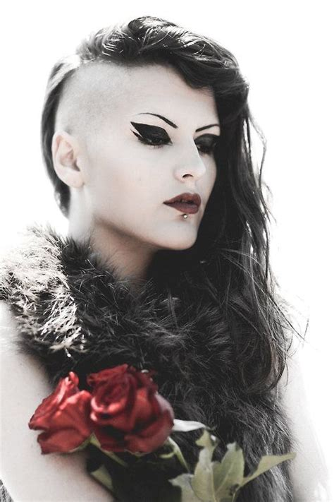 woman half shaved haircuts 710 best gothic beauty images on pinterest dark beauty