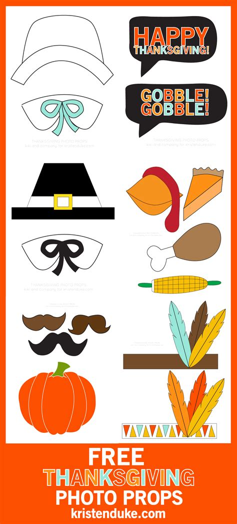 printable photo booth props thanksgiving photo booth prop templates free printables memes