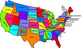 map of state of usa united states map