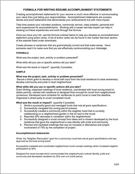 Resume Duties And Accomplishments Exles Accomplishments Resume Are Indeed Important Part Of Any