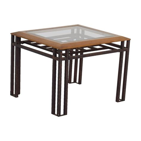 glass and brass end tables 88 rustic brass wood and glass end table tables