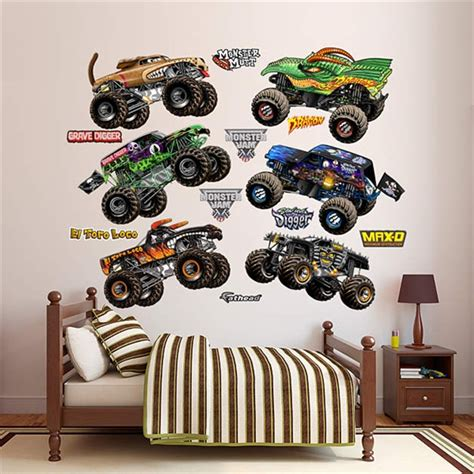 Monster Jam Wall Stickers monster jam fathead collection