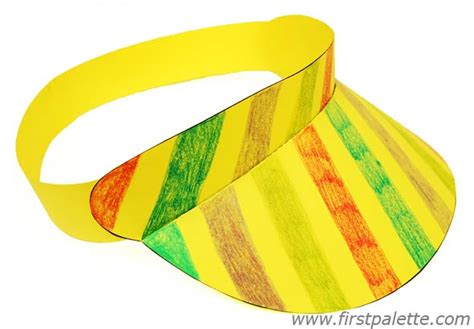 How To Make A Sun Hat Out Of Paper - paper visor craft crafts firstpalette