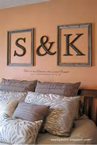 wall decor using initials and frames trusper