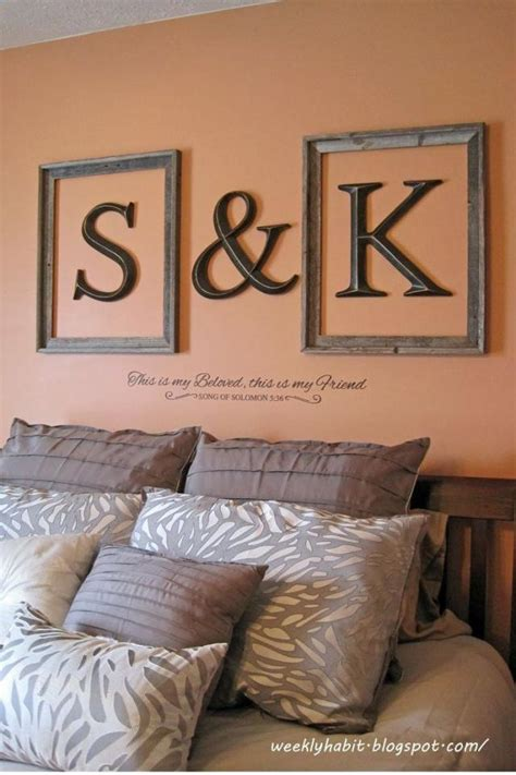 Decorating Ideas With Initials Wall Decor Using Initials And Frames Trusper