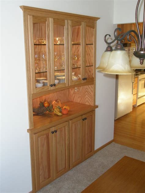built in china cabinet buffet built in china hutch buffet by kevin depies