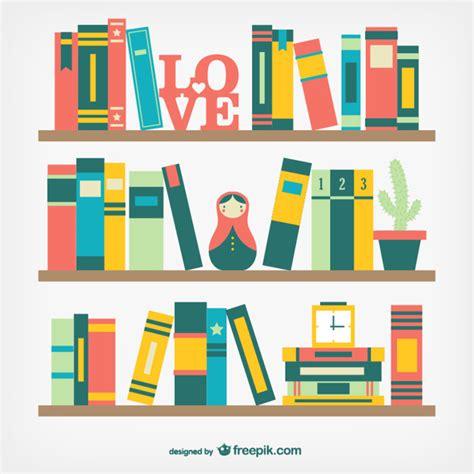 estantes para libros gratis libros en estantes en dise 241 o plano descargar vectores gratis