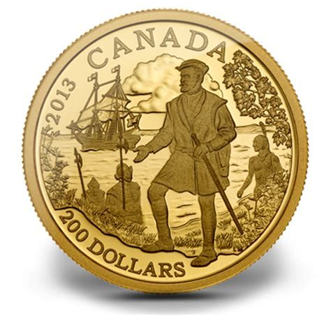 Fine Gold Coin   Jacques Cartier   Mintage: 2,000 (2013