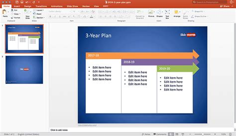 Free 3 Year Plan Template For Powerpoint Free Powerpoint Templates Slidehunter Com Three Year Plan Template
