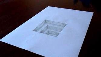 How To Draw 3d Stairs On Paper by The Original Amazing 3d Hole In Paper Drawing Timelapse
