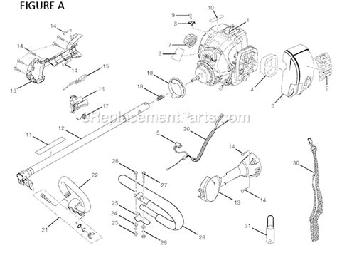 ryobi string trimmer parts diagram ryobi ry30020a parts list and diagram ereplacementparts