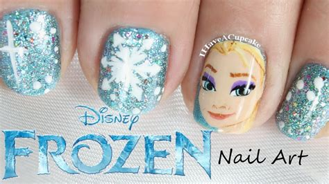 tutorial nail art frozen frozen nail art elsa youtube