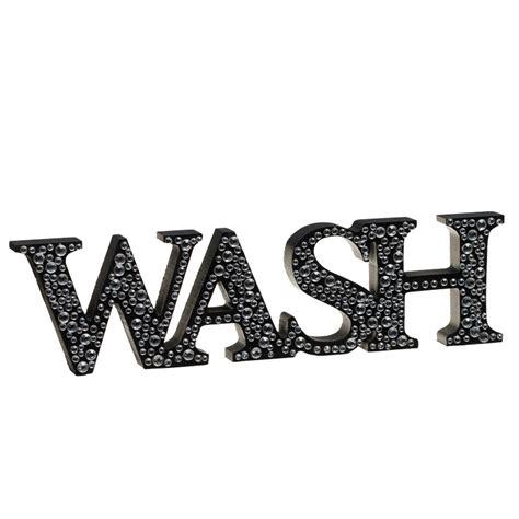 bathroom word ornaments diamante word stand wash home decor home accessories