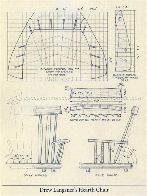 rustic windsor chair plans woodarchivist