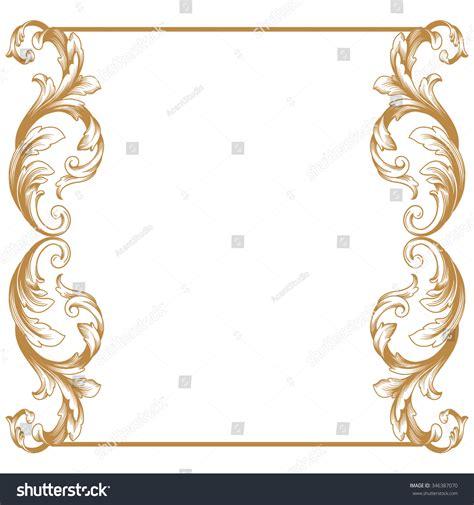 gold pattern border premium gold vintage baroque frame scroll ornament
