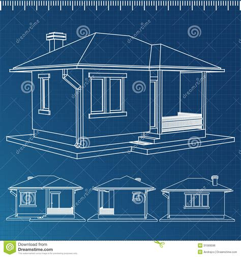 blue print house house blueprint stock vector image of project