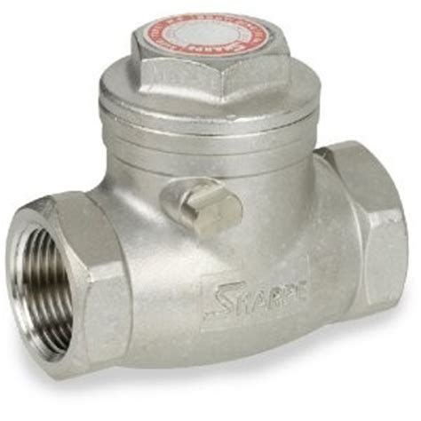 stainless steel swing check valve 1 2 quot sharpe 316 stainless steel swing check valve