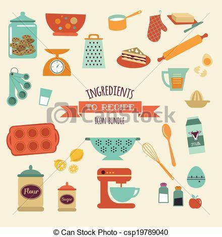 dessin recette de cuisine vecteur eps de recette et cuisine vecteur conception