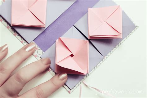 How To Make A Paper Origami Book - origami thread book tutorial paper kawaii