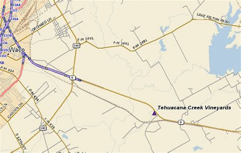 texas wineries map tehuacana creek winery location