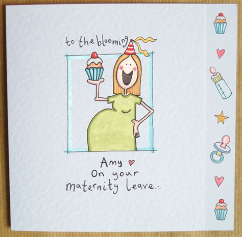 Bye Bye Baby Gift Card - maternity leave card gallery