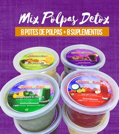 Polpas Em Pote Detox by Kit Mix De Polpas Detox