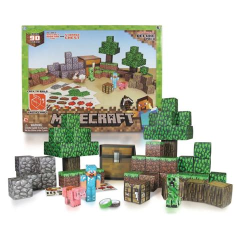 Minecraft Papercraft Deluxe - overworld deluxe minecraft papercraft kit 93pc
