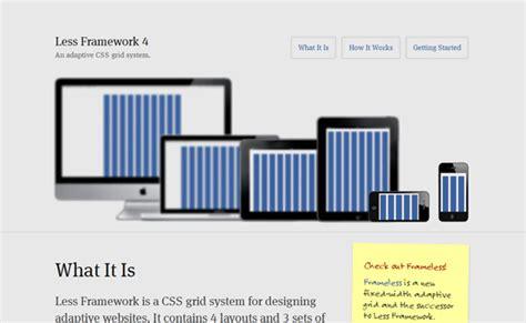 web design layout framework less framework responsive web design showcase