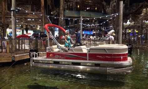 bass pro shop used pontoon boats 24 hours in the bass pro pyramid in memphis