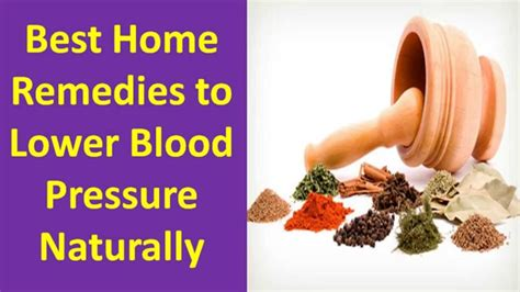 home remedies and cures for high blood pressure