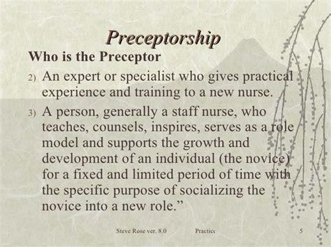 thank you letter to preceptor sle nursing guide to preceptorship