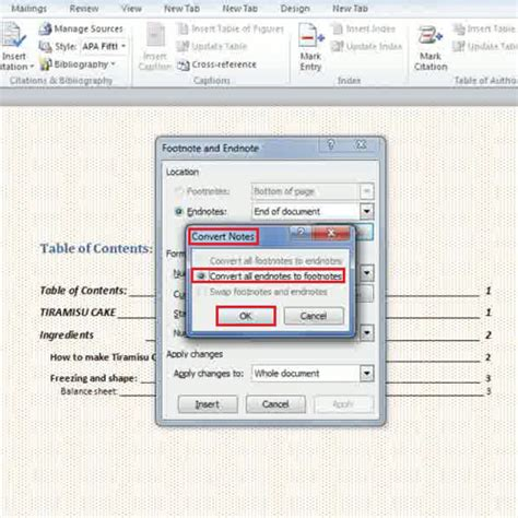 format footnote spacing in word 2010 how to create footnotes and endnotes in ms word 2010 howtech