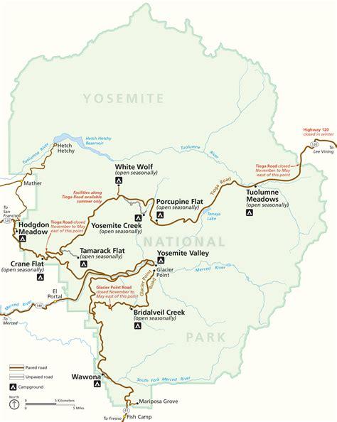 map of yosemite national park maps update 600454 yosemite tourist map the valley